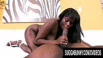 Busty Ebony Lickable Stylez Gives Her Man a Sensational Blowjob