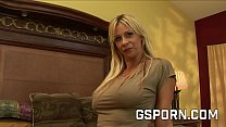 Sexy blonde milf fucked hard in all her holes
