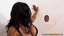 BBW Ebony Ms London Gets Fucked By White Gloryhole Dicks