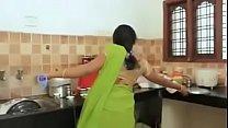 DEVER AND BHABHI HOT SAREE NAVEL ROMANCE IN BEDROOM 7 min