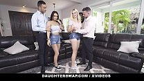 DaughterSwap - Daddies On An Orgy With Their Sexy Daughters (Alessia Luna) (Nikki Sweet)
