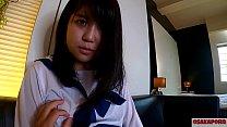 人生初潮吹き!大洪水のツルピタ 瞳の大きな可愛いぴちぴち18歳が学生服で20回以上のイキ祭り。ちびっこ体型貧乳ちっぱいさんスカートに正常位で中出し。個人撮影 ハメ撮り オリジナル セーラー服 学生 アヘ顔 アクメ 会話 手マン ver まお 6 OSAKAPORN 10 min