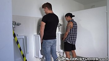 Dakota Payne Blows Random Guys Through Bathroom Glory Hole - FalconStudios