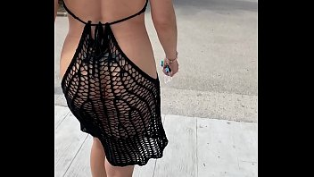 Showing off naked under my transparent outfits