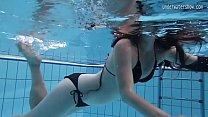 Small tits teen Umora Bajankina underwater
