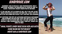 Anal pirate Sindy Rose ruin her ass with huge dildo on the beach 64 sec