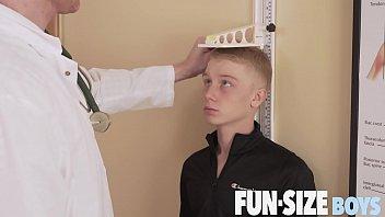 FunSizeBoys - Giant hung doctor fucks tiny blond twink bareback