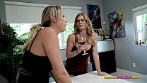 Stuck Threesome with My Step Mom and Step Aunt - Nikki Brooks and Cory Chase 22 min