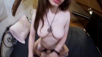 POV Threesome fuck and creampie 7 min