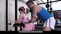 Fit Teen (Kiara Edwards) Fucks Her Personal Trainer In The Gym - Teamskeet