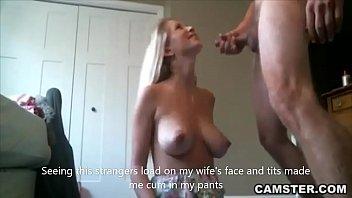 Slutty wife fucks stranger while husband is at work