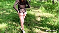 Fucked a youngster in the forest and cum in her panties - CreamySofy