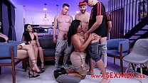 The gangbang reality Gali Diva teaches how to have sex 11 min