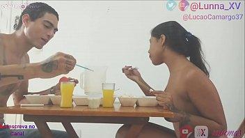 Video Completo e totalmente FREE - Casal Lucão e Lunna Vaz em - Comemorando o emprego novo