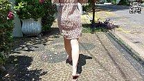 Transparent dress on the street