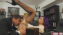 Busty latina tgirl TS Foxxy barebacked