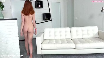 2 Guys used a shy teen for the very 1ts time in a extreme threesome casting