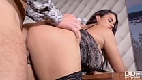 Voluptuous brunette babe Chloé's juicy big tits and pussy fucked hardcore 12 min