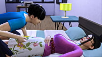 Stepson Fucks Korean Mom   asian mom shares the same bed with her stepson in the hotel room