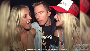 wild party girls on the street in south beach 24 min