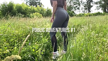 My sexy girlfriend outdoors sucking and swallowing cum. KleoModel