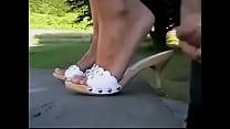 Beautiful feet slipper fuck