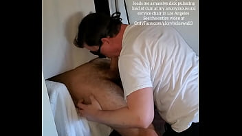 Tall hairy muscle hunk feeds me a massive load of cum