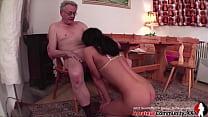 Young slut & old guy: piss play, food play & hot fucking! AMATEURCOMMUNITY.XXX 26 min