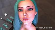 Virtual Deepthroat Face Fucking
