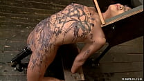 Bound Asian in corporal punishment