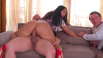 Cuckold, Watching the GF Takes a BIG Cock and Fucking