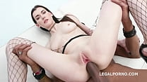 Petite Russian Brunette Ariana Shine Gets Every Hole Destroyed by BBC