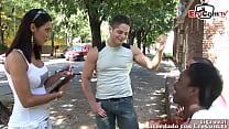 Spanish skinny latina milf get gangbang after pick up 41 min