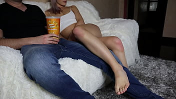 Popcorn prank with my girl next door while we are watching a movie 6 min