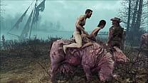 Fallout 4 Fuck on brahmin