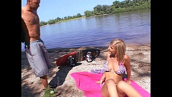 Blonde on the beach getting fucked