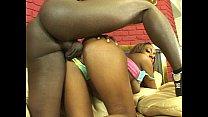 Ebony chick and  a fat black cock 25 min