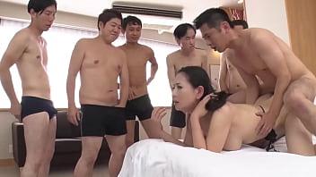 Surprise Bukkake Squad Take On Hot Japanese MILF 7 min