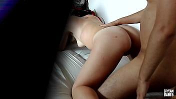 Real hidden camera catching couple having sex 7 min
