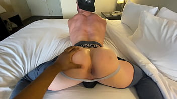 WHITE BUBBE BUTT MUSCLE JOCK SCOT GETS FUCKED BY BBC UP HIS TIGHT MUSCLE ASS in SWEAT PANTS on ST PAtricks DAY!
