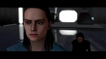 Rey gets fucked by Kylo and Snoke