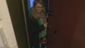 fat ass blonde sucks off in the bathroom