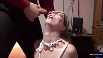 Nerdy Bdsm slave girl Lia is grateful for facial 8 min