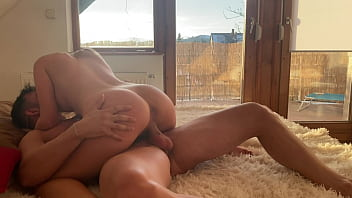 Homemade sex with beautiful blonde girl 6 min