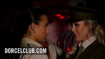Busty Milf Brandi Love intense threesome in uniform with Vanessa Decker