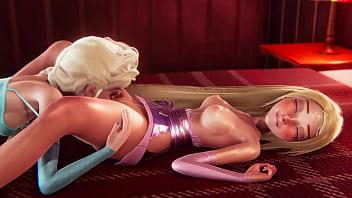 Futa - Tangled Rapunzel gets creampied by Frozen Elsa - 3D Porn