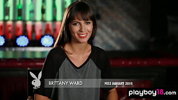 Classy all natural beauty Brittany Ward presenting her perfect tanned body
