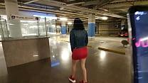 Martinasmith squirting at the Mall parking lot