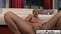 Naturally stacked Gianna teases and plays with herself