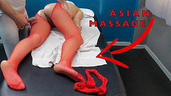 Hot Asian Milf Came for a Massage with Sexy Tights to Seduce & Pussy Tease the Masseur! 13 min